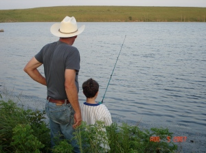 Take a late afternoon trip out from Matfield Station to Chase State Fishing Lake.